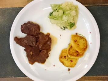 Smartes Rinderfilet mit Kartoffel-Pastinaken-Talern und Rahmwirsing - Rezept - Bild Nr. 4267