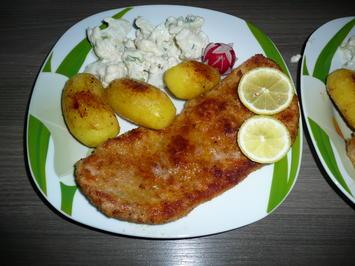 Blumenkohlsalat mit Sahnedressing zu Schweineschnitzel + Drillingen. - Rezept - Bild Nr. 4629