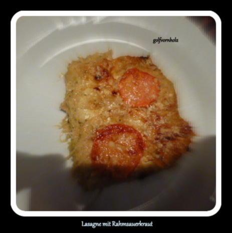 Lasagne mit Rahmsauerkraut - Rezept - Bild Nr. 4303