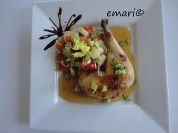 Rezept: Asia Hühnchen aus dem Römertopf