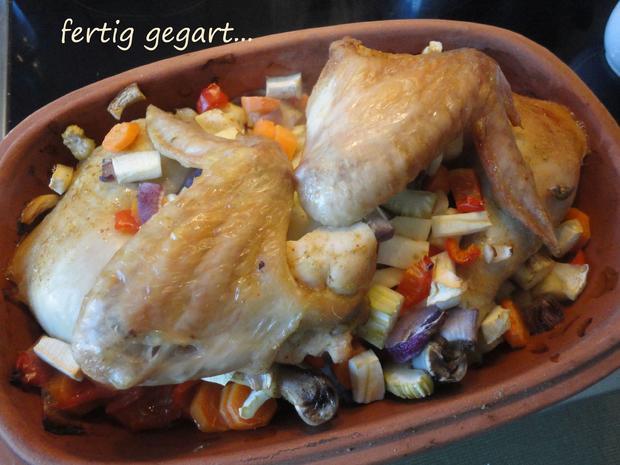 Asia Hühnchen aus dem Römertopf - Rezept - Bild Nr. 4327