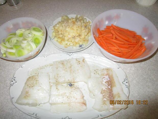 Fischfilet auf Senfgemüse - Rezept - Bild Nr. 4352