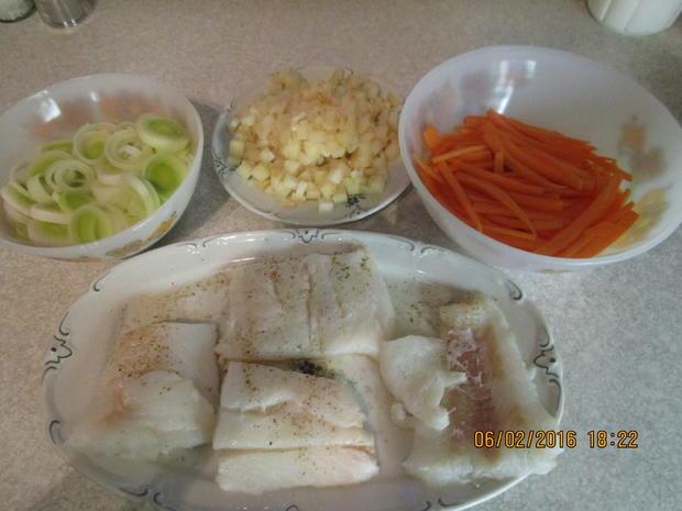 Fischfilet auf Senfgemüse - Rezept - Bild Nr. 4353