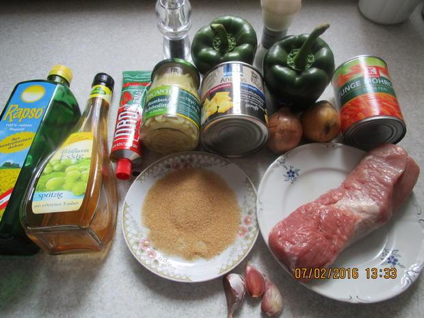 Frittiertes Schweinefleisch süß-sauer - Rezept - Bild Nr. 4379