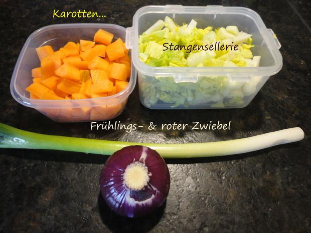 Senfgemüse mit Hühnerleber und Presskartoffel - Rezept - Bild Nr. 4388