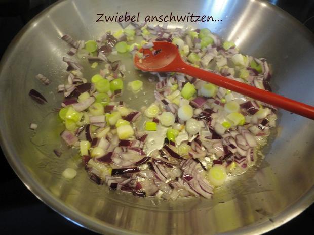 Senfgemüse mit Hühnerleber und Presskartoffel - Rezept - Bild Nr. 4390