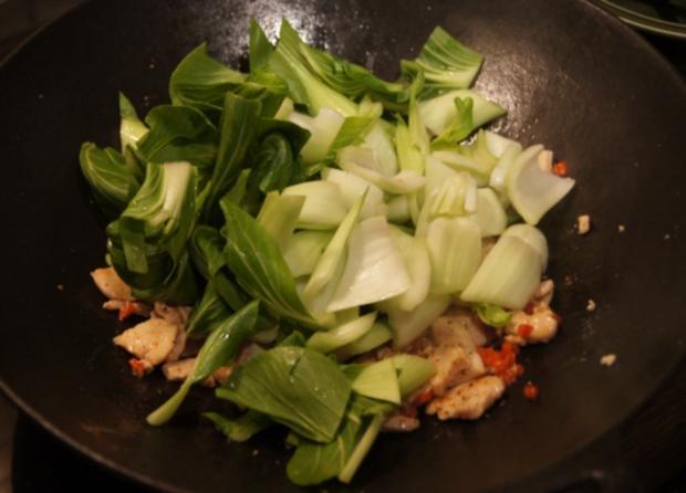 Warmer Baby Pak Choi Salat mit Hähnchenbrustfiletstreifen - Rezept - Bild Nr. 4446