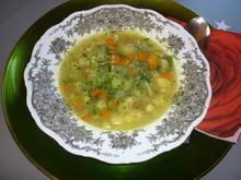 Gemüsesuppe mit Kichererbsensprossen - Rezept - Bild Nr. 4465