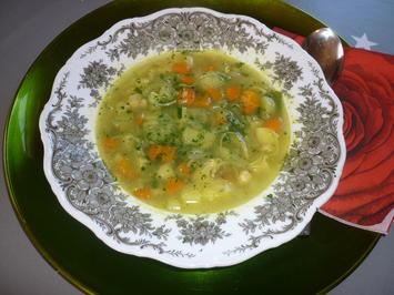 Rezept: Gemüsesuppe mit Kichererbsensprossen