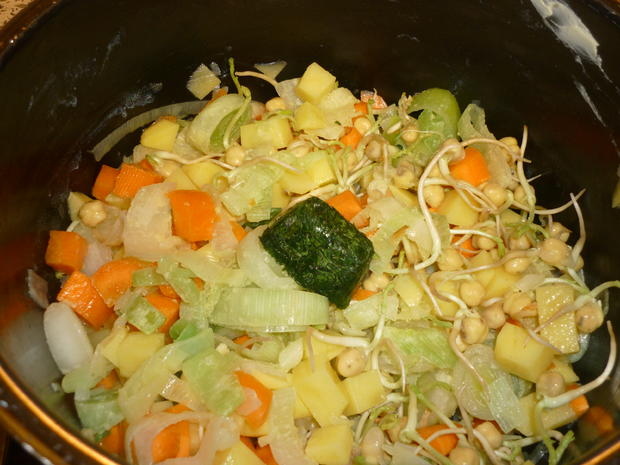 Gemüsesuppe mit Kichererbsensprossen - Rezept - Bild Nr. 4469