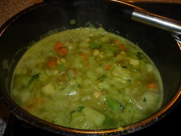 Gemüsesuppe mit Kichererbsensprossen - Rezept - Bild Nr. 4470