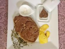 Entrecôte mit Kartoffelchips und Schalottenbutter - Rezept - Bild Nr. 4465
