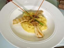 Risotto Milanese mit Zitrone und gebratenen Kräuterseitlingen - Rezept - Bild Nr. 4465