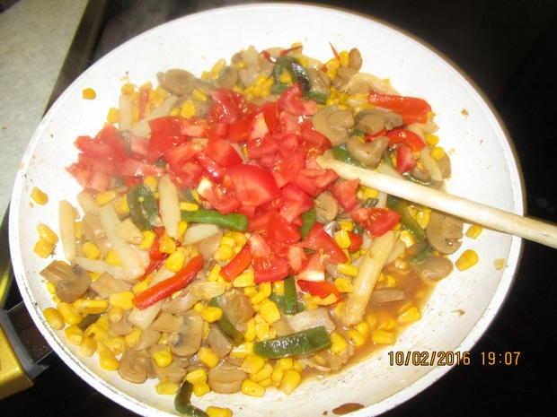 Gemüsepfanne mit Thunfisch - Rezept - Bild Nr. 4526