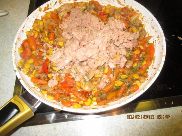Gemüsepfanne mit Thunfisch - Rezept - Bild Nr. 4528