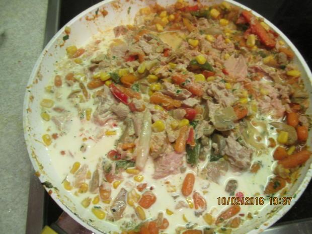 Gemüsepfanne mit Thunfisch - Rezept - Bild Nr. 4529