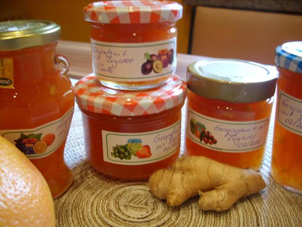 Konfitüre & Co: Grapefruit -Ingwer - Rezept - Bild Nr. 4650