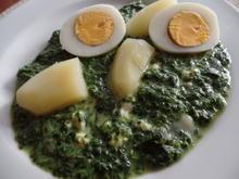 Eier auf Gorgonzola-Spinat - Rezept - Bild Nr. 4649