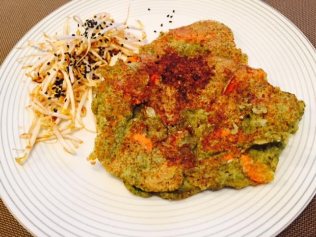 Mungobohnenpfannkuchen mit Sprossensalat - Rezept - Bild Nr. 4892
