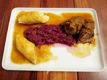 Rinder-Rouladen mit schlesischen Kartoffelmehlklößen - Rezept - Bild Nr. 4904