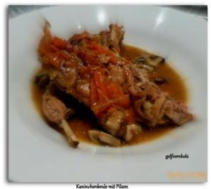 Kaninchenkeule mit Pilzen - Rezept - Bild Nr. 4930