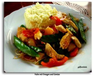 Huhn mit Orangen und Gemüse aus dem Wok - Rezept - Bild Nr. 4945