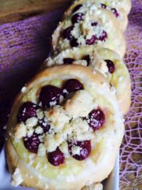Streuseltaler mit Pudding und Kirschen - Rezept - Bild Nr. 4955