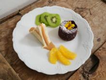 Zitronenterrine mit kleinem Schokokuchen und Dulce-de-leche-Soße - Rezept - Bild Nr. 4951