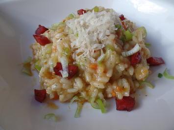 Rezept: Lauch-Risotto mit Chorizo