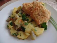 Polenta-Schnitzelchen mit Kartoffelsalat - Rezept - Bild Nr. 4996