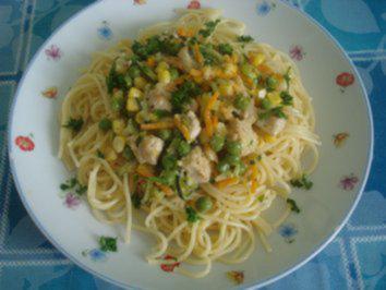 Putenbrust mit Nudeln und Gemüse - Rezept - Bild Nr. 5033