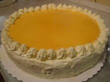 Schokoladen-Orangenfrischkäsetorte mit Eierlikörspiegel - Rezept - Bild Nr. 5080