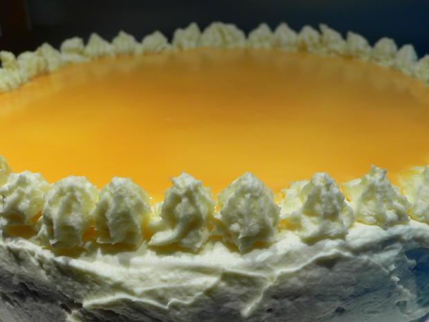Schokoladen-Orangenfrischkäsetorte mit Eierlikörspiegel - Rezept - Bild Nr. 5082