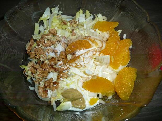 Gänsekeulen an Rosmarinkartoffel, kandierten Maronen + Chiccoreesalat - Rezept - Bild Nr. 5123