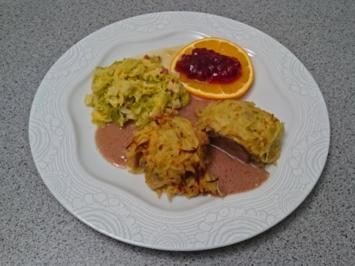 Rehrücken im Kartoffelnest mit Wirsing und Wildsoße - Rezept - Bild Nr. 5123