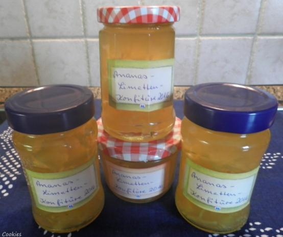 Ananas - Limetten - Konfitüre - Rezept - Bild Nr. 5178