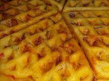Pizzawaffeln mit Salami - Rezept - Bild Nr. 5230