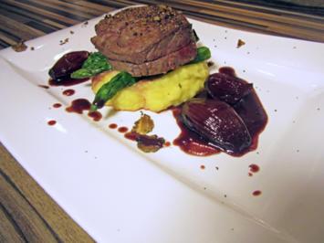 Rinderfilet auf Rotwein Schalotten Butter mit Kartoffelpüree - Rezept - Bild Nr. 5246