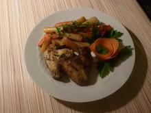 Poulet Flügeln mit Wurzelgemüse - Rezept