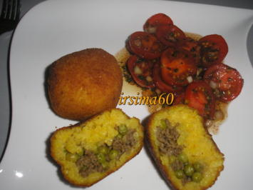 Arancini alla siciliana – Gefüllte Reiskugeln - Rezept - Bild Nr. 2