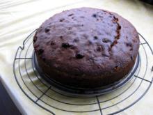 Schoko Mandel Kuchen mit Rum Rosienen - Rezept