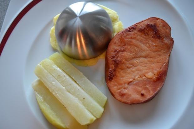 Kasseler mit Kohlrabi (Sticks) und Kartoffelstampf à la Biggi - Rezept - Bild Nr. 5
