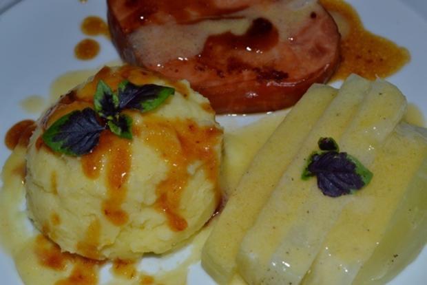 Kasseler mit Kohlrabi (Sticks) und Kartoffelstampf à la Biggi - Rezept - Bild Nr. 6