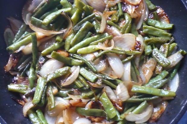 Bohnen mit karamellisierten Röstzwieben - Rezept - Bild Nr. 4