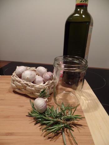 Knoblauchöl - Rezept