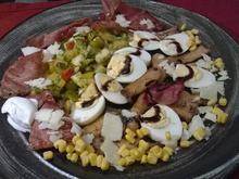 Fruchtiger Eiersalat mit Schwarzwälder Rohschinken und Kräuterseitlingen - Rezept
