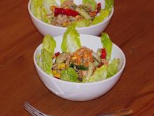 Rohkostsalat mit Thunfisch, Romasalatherzen & Mais - Rezept - Bild Nr. 3