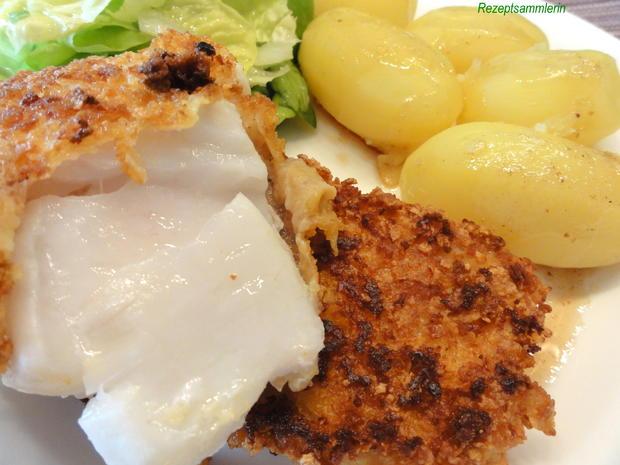 Fisch:   KABELJAU im Knuspermantel - Rezept