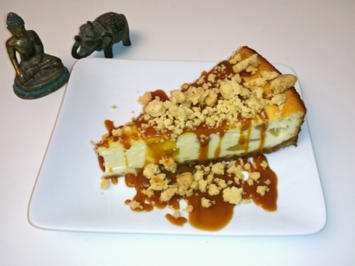 Dutch-Apple-Caramel-Streusel-Cheesecake - Rezept