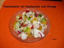 Salat: Fenchel+Orange+Radieschen - Rezept
